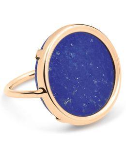 Ever Lapis 18k Rose Gold Disc Ring