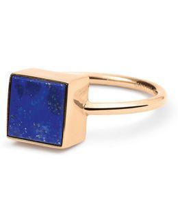 Ever Lapis 18k Rose Gold Square Ring