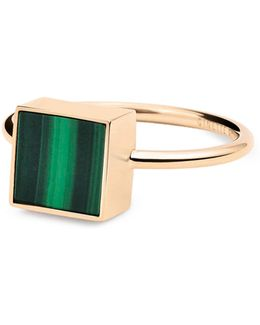 Ever Malachite 18k Rose Gold Square Ring