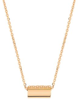 Straw 18k Rose Gold Pendant Necklace