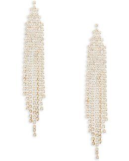 Goldtone Crystal Chandelier Earrings