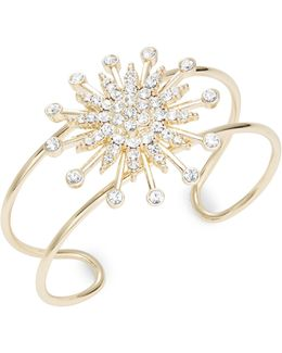 Pave Star Accented Cuff Bracelet