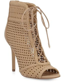 Abbie Woven Leather Booties