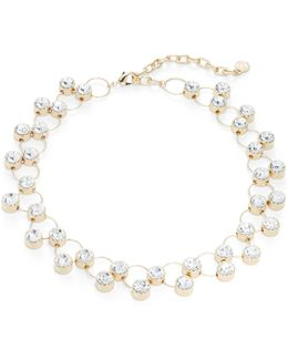 Circle Linked Stone Necklace
