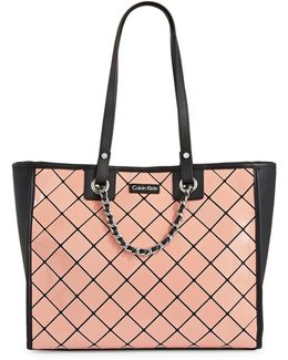 Athleisure Diamond-tile Tote