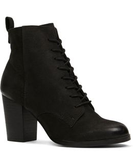 Neily Lace-up Leather Ankle Boots