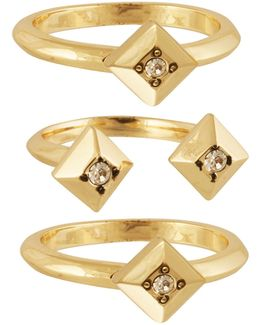 The Lyra Goldtone Stackable Ring Set