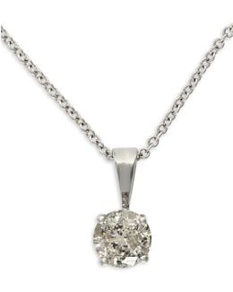 14k White Gold Pendant Necklace With 0.49 Tcw Diamonds