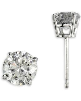 14k White Gold Stud Earrings With 0.98 Tcw Diamonds