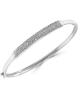 14k White Gold Bangle Bracelet With 1 Tcw Diamond