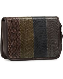 Capital Bansho Water Snake Leather Crossbody Bag