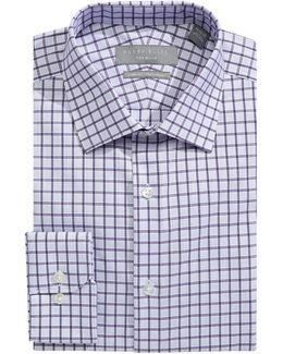 Slim Fit Dobby Grid Dress Shirt