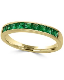 Emerald And 14k Yellow Gold Ring