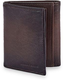 Boxed Michigan Slim Leather Tri-fold Wallet