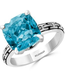 925 Sterling Silver Sky Blue Topaz Ring