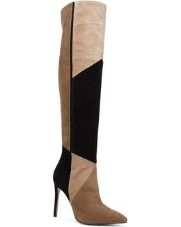 Cherell Stiletto Leather Over-the-knee Boots