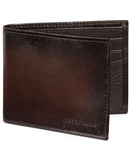 Boxed Michigan Slim Leather Bi-fold Wallet