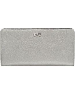 Bow Glitter Popper Matinee Wallet