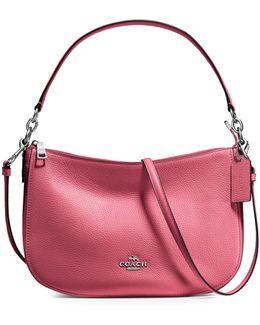 Chelsea Pebble Leather Crossbody Bag