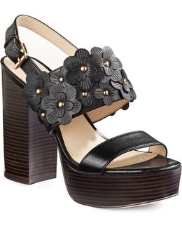 Kimmy Platform Leather Sandals