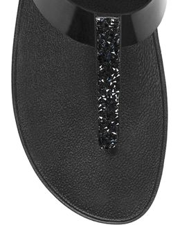 Fino Toe Tm Faux Leather Thong Sandals