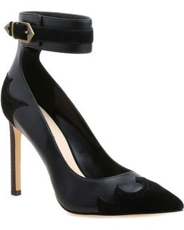 Tony Leather And Suede Pumps