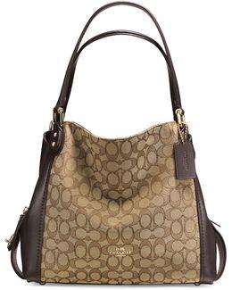 Edie 31 Signature Jacquard Shoulder Bag