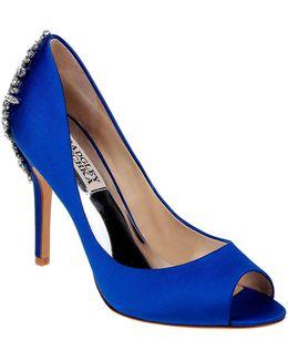 Nilla Satin Embellished Heels