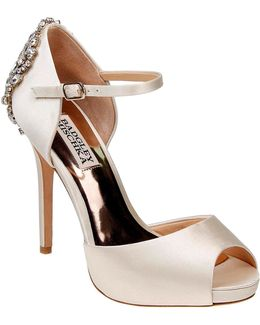 Dawn Peep Toe Ankle Strap Pumps