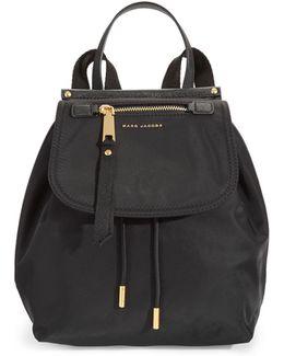 Flap-top Hardware Nylon Backpack