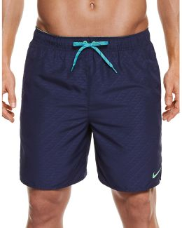 Embossed Swim Trunks