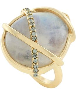 Banded Moonstone Ring