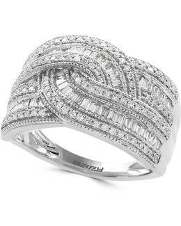 14k White Gold Ring With 0.5 Tcw Diamonds Box Set
