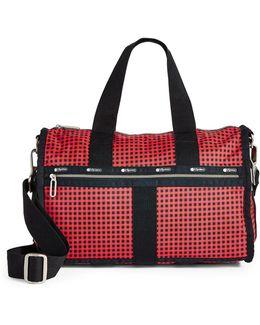 Checkered Small Weekender Bag