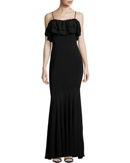 Lace Off-shoulder Trumpet Gown