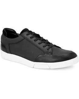 Balin Embossed Leather Sneakers