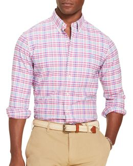 Plaid Long-sleeve Oxford Shirt