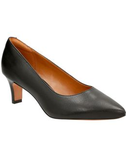 Cushion Soft Leather Wick Pumps