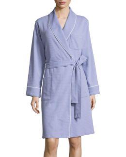 Waffle-knit Robe
