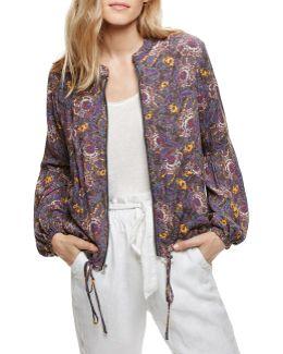Floral Blouson Sleeve Jacket