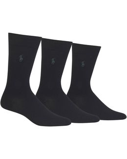 Big And Tall Three-pack Dress Crew Socks