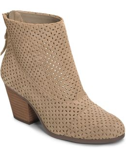 Vital Sign Laser-cut Suede Short Boots