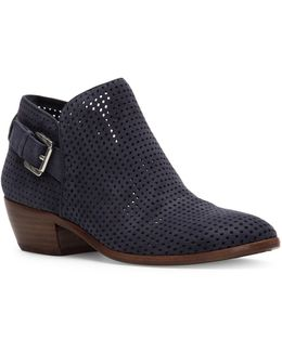 Paula Perforated Ankle Boots