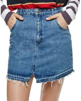 Step Up Mini Denim Skirt