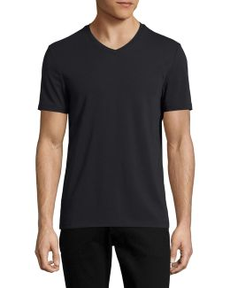 Pima Cotton V-neck T-shirt