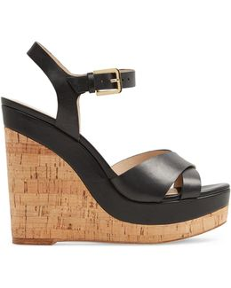 Madyson Leather Wedge Sandals