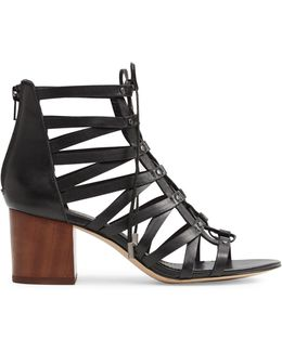 Myssi Caged Leather Sandals