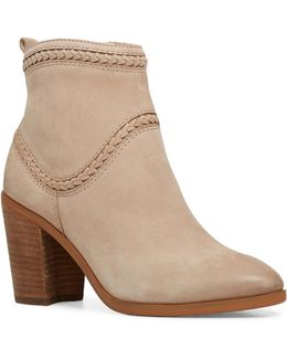 Cathrina Western Leather Ankle Boots