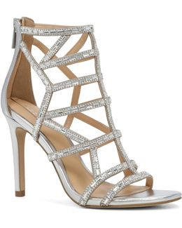 Norta Caged Occasion Rhinestone Embellished Sandals