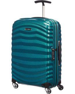 Lite Shock 55cm Spinner Petrol Blue Suitcase